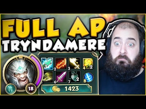 Download Youtube: FULL AP TRYNDAMERE? YOU WON'T BELIEVE THIS BURST! AP TRYNDAMERE TOP GAMEPLAY! - League of Legends