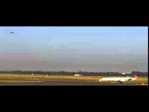 UFO over airport Dusseldorf/Germany