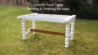 How To Build A Dining Table, By Jon Peters. Part 2 Painting & Finishing