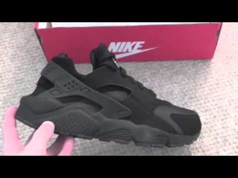 new arrival 450c3 4b991 New Pick Up  Nike Air Huarache Retro All Black - YouTube