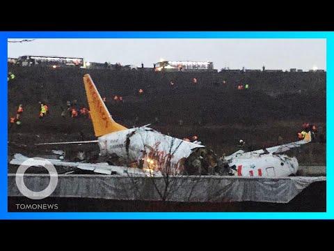 Musibah pesawat di Turki terbelah jadi 3 bagian; Wanita tuli sebelah setelah pakai earphone - TomoNe