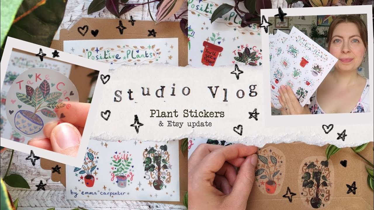 Studio Vlog 016 | plant stickers