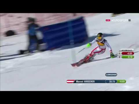 Marcel Hirscher - St. Moritz WM Slalom 1st run