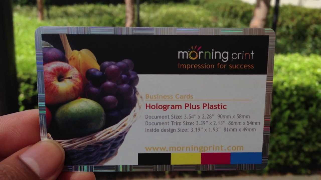 MorningPrint: Hologram Plus Plastic Business Card - YouTube