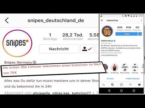 75€ Snipes GUTSCHEIN Auf Instagram BEKOMMEN!!