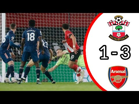 SOUTHAMPTON VS ARSENAL, 1 – 3/ ALL GOALS AND EXTENDED HIGHLIGHTS/ PREMIER LEAGUE