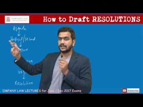 How to Draft Resolutions in CS Exams