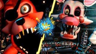 ROCKSTAR FOXY VS MANGLE - La Liga de FNAF   FIVE NIGHTS AT FREDDY'S ULTIMATE CUSTOM NIGHT J3