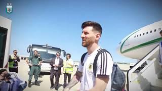 Rusia 2018: Llegada de la Selección Argentina a Barcelona