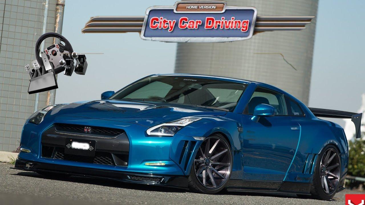 Nissan GTR (R34)   City Car Driving (ccd Mods) Türkçe Oynanış   #36    W/fanatec Direksiyon Seti