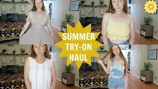 SUMMER TRY-ON HAUL | THRIFTED + ONLINE FINDS | MEGHAN HUGHES