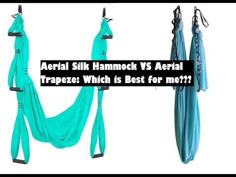Aerial Yoga: Should I get an aerial silk hammock or a yoga trapeze? Advantages and disadvantages