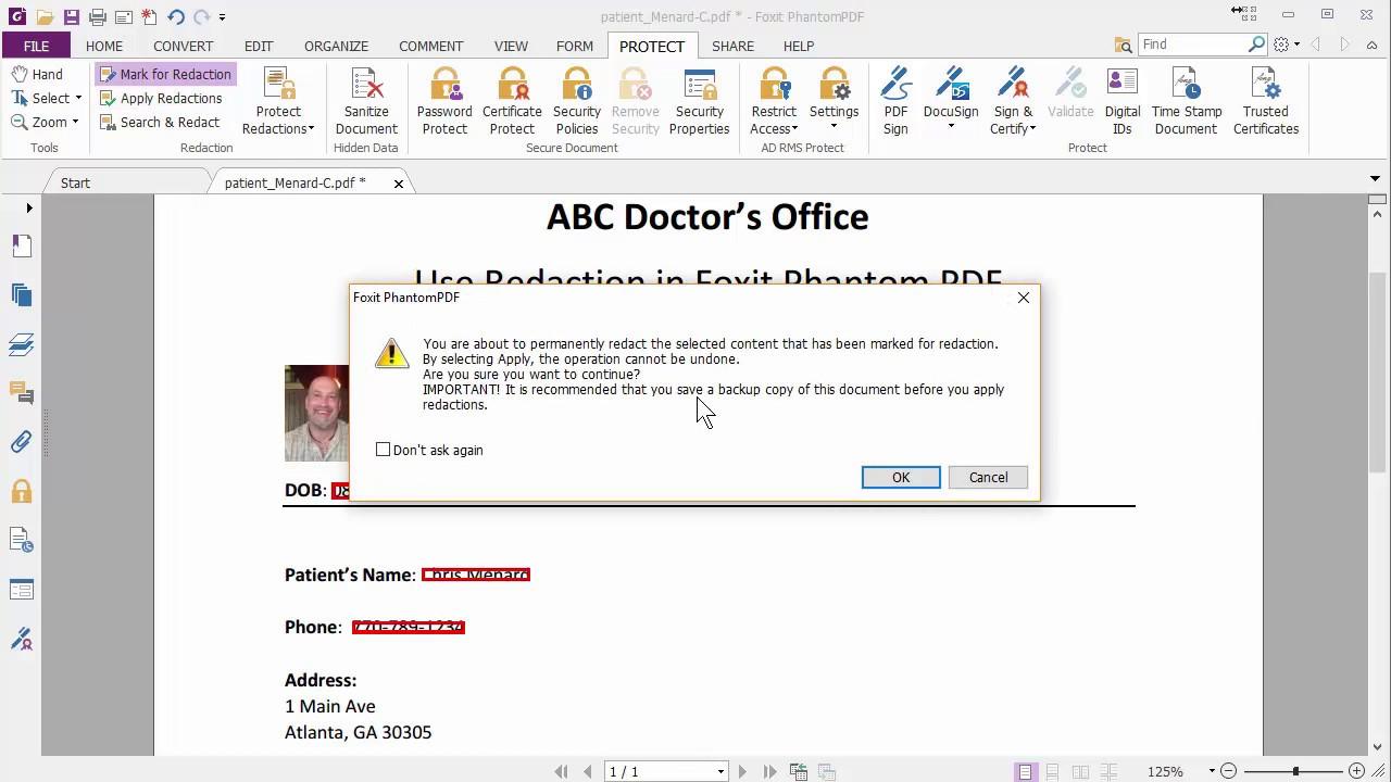 Redact a PDF file / remove sensitive information by Chris Menard