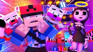 Minecraft FNAF 6 Pizzeria Simulator - ALICE ANGEL IS FOLLOWING US! (Minecraft Roleplay)