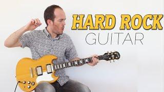 Cómo tocar Hard Rock Guitarra Rítmica y Solista - Rock Clásico Guitar Lesson Tab