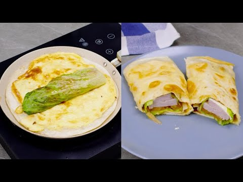 Stuffed tortilla the quick and tasty recipe