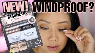 KISS MAGNETIC EYELINER AND LASHES REVIEW(IS IT REALLY WINDPROOF?)NEW KISS MAGNETIC EYELINER & LASHES