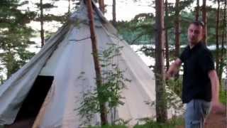 Camping in Teepees at Dalsland Activities, Sweden