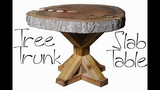 Live Edge Slab Table from Tree Trunk