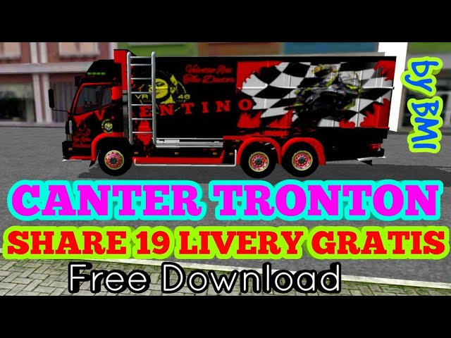 BUSSID Mod Truk Canter Tronton + Share 19 Livery - Free Download