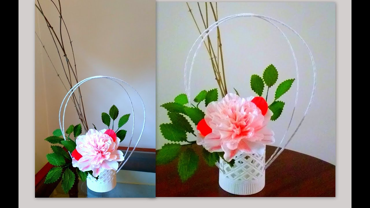 Diy how to make elegant and simple paper flower ikebana arrangement diy how to make elegant and simple paper flower ikebana arrangement mightylinksfo