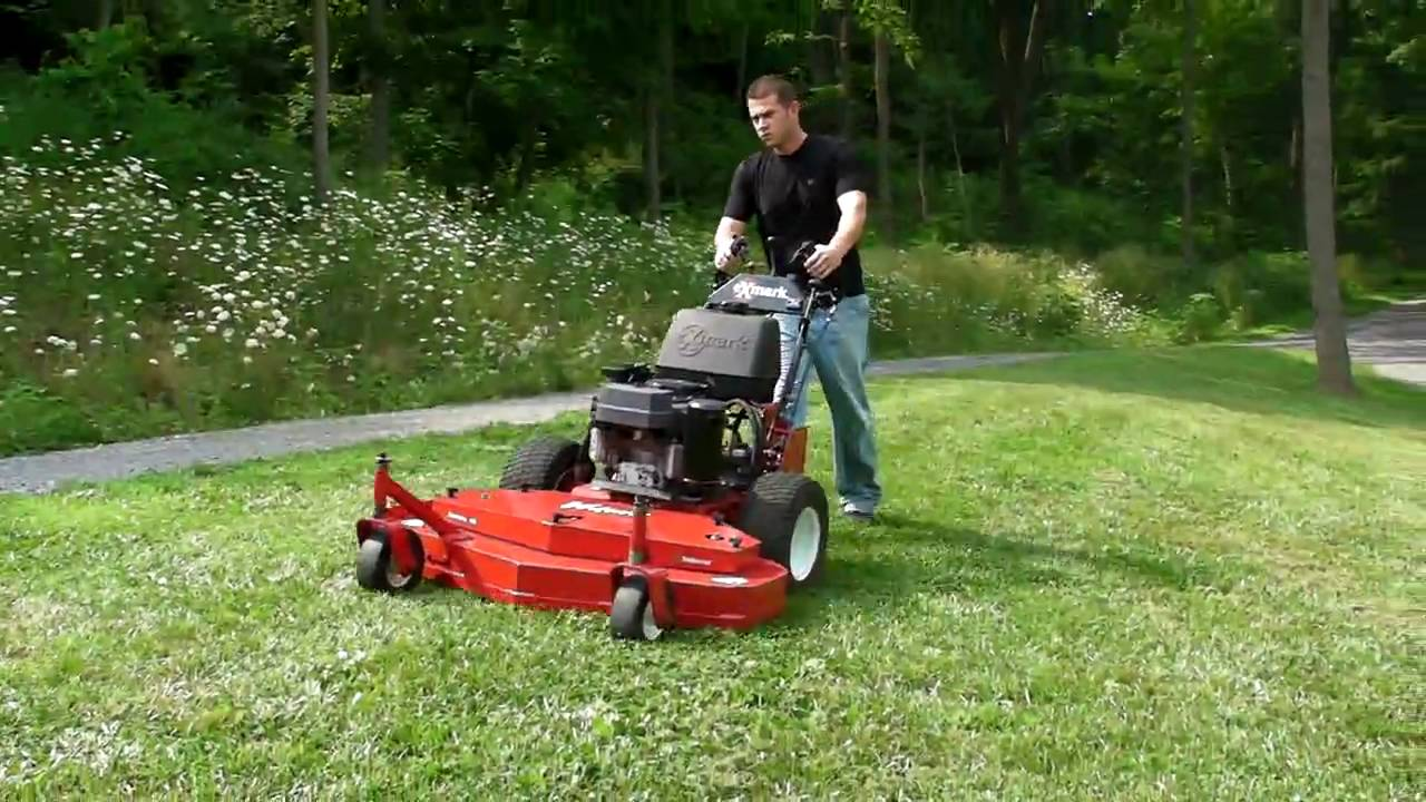 Commercial Lawn Mowers For Sale >> Exmark 48 inch commercial hydro lawn mower action... - YouTube
