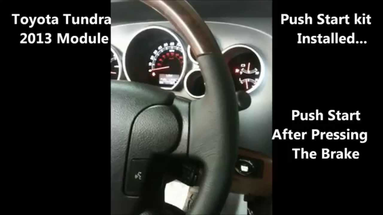 Toyota Tundra Push start