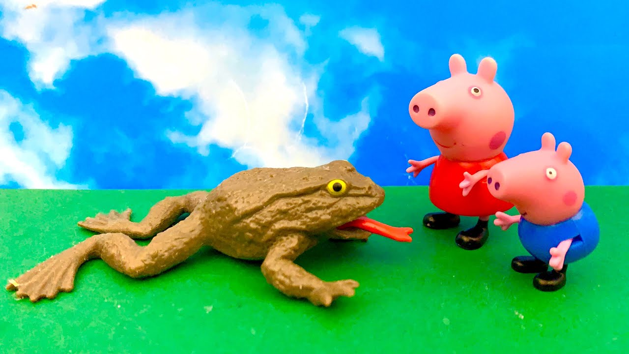 Peppa Pig, Funny Frog and Kinder Joy ICE CREAM 😊☺️ माशा और भालू, पेप्पा सुअर