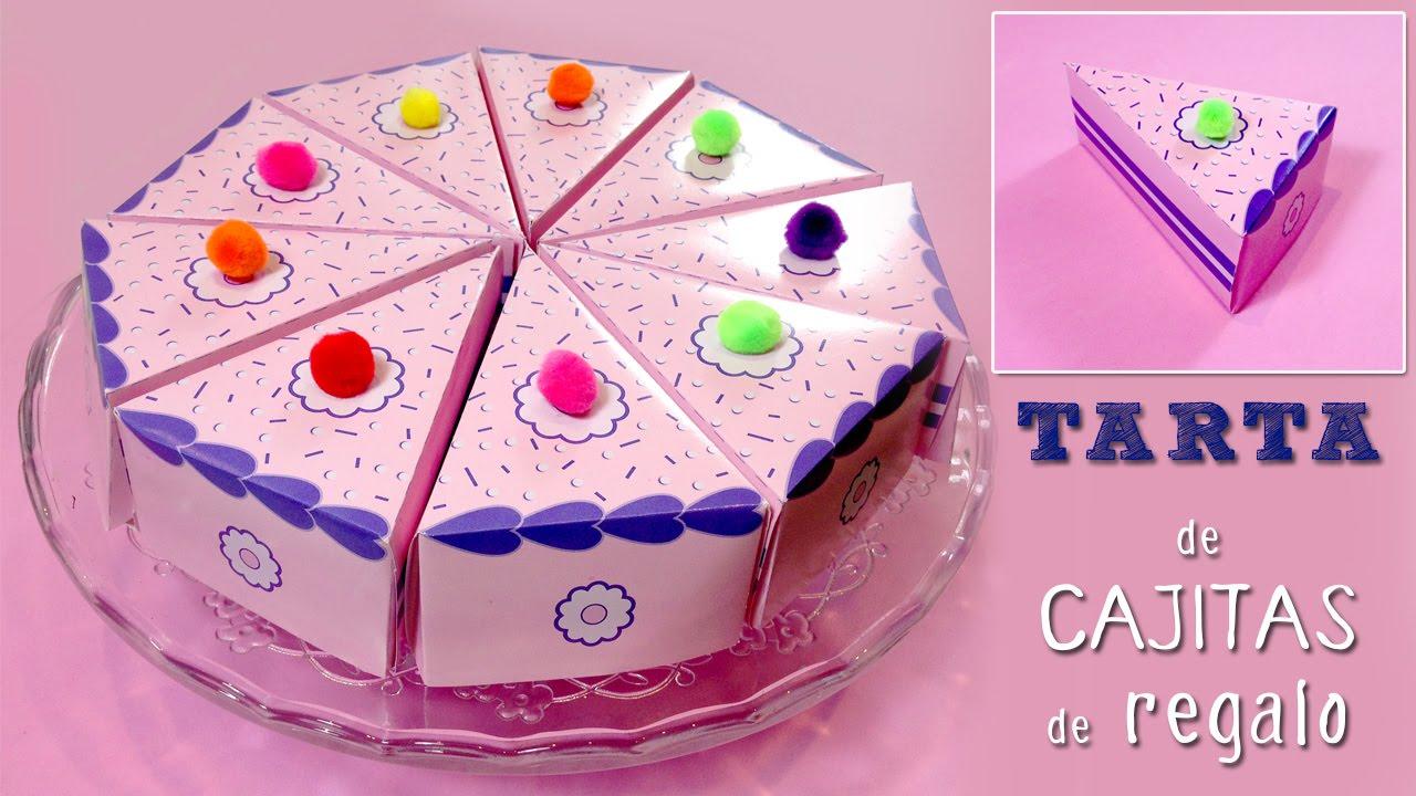 Cajitas en forma de pastel * Tarta falsa - YouTube