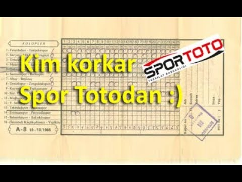 Kim Korkar Spor Totodan - Formül Böyle yapılır....