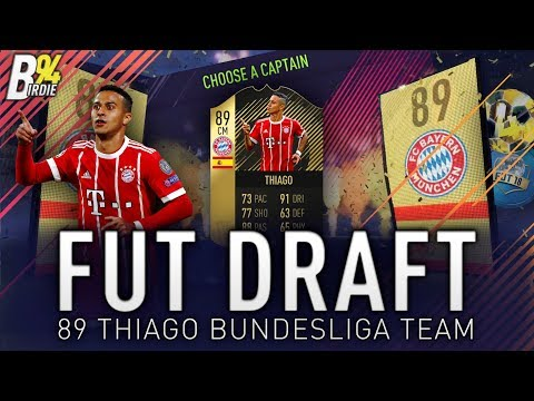 IF THIAGO - FIFA 18 FUT DRAFT LIVE - Bundesliga Hybrid Team