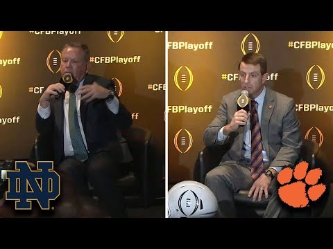 Clemson vs. Notre Dame Matchup: Dabo Swinney & Brian Kelly Share Thoughts