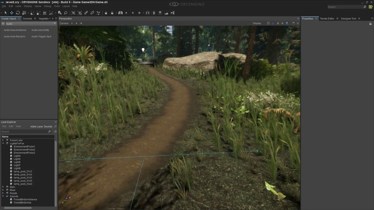 Cryengine 5 Audio Tutorial #7 - Adding Sounds To Your Game Level / Ambience  Audio - SDL Mixer