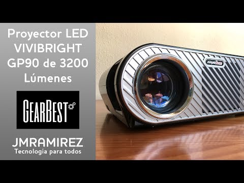 El proyector LED VIVIBRIGHT GP90 by Gearbest.com