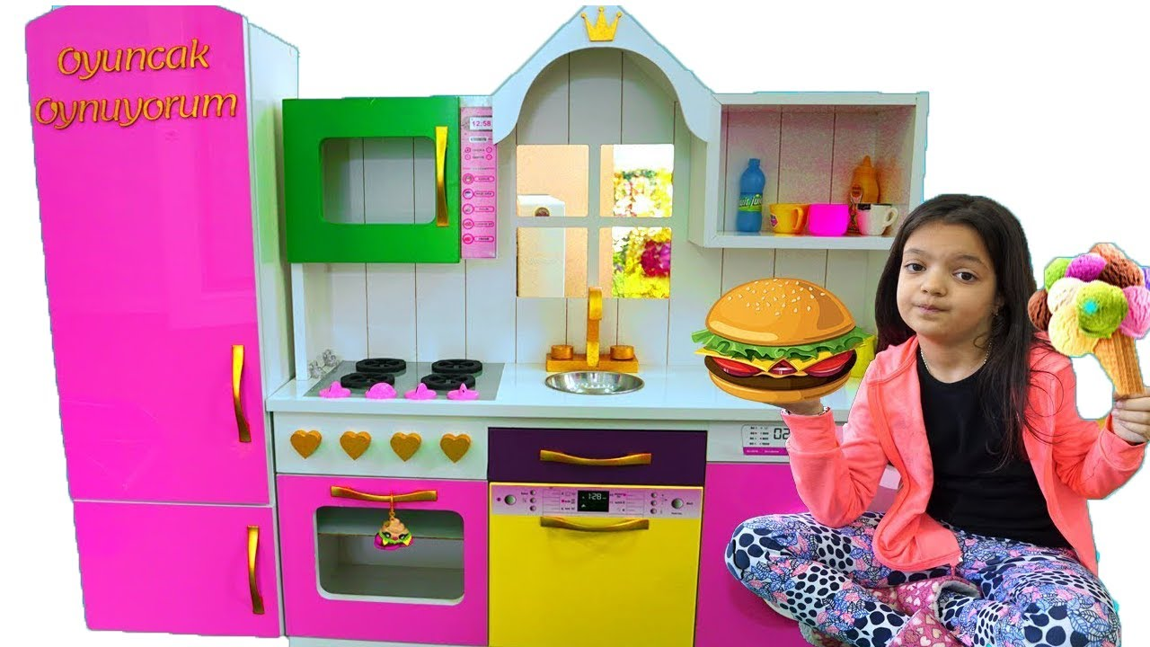 Masal pretend playing in Restaurant with Kitchen Toys - YouTube