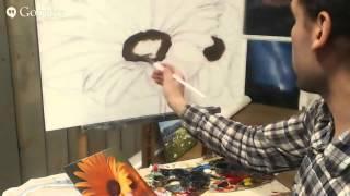 Как научиться рисовать карандашом маслом, рисуем цветы герберы .Аминджанов Александр(, 2015-08-02T00:06:41.000Z)