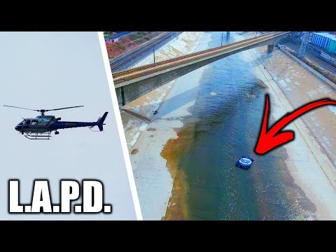 Tubing Down L.A. River GONE HORRIBLY WRONG!!! **Police Helicopters** (Worlds Most Toxic River)