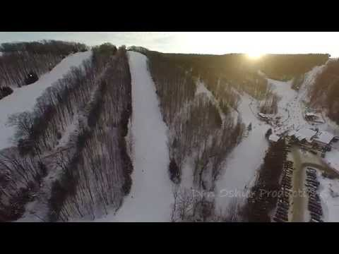 Drone Aerial Tour of Holiday Valley Ski Resort - Ellicottville, NY