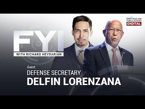 REPLAY: FYI with Richard Heydarian: Exclusive interview with DND Sec. Delfin Lorenzana