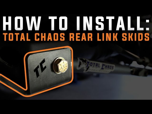 How To Install TOTAL CHAOS Rear Link Skids