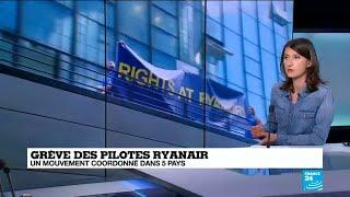 Grèves coordonnées dans cinq pays des pilotes Ryanair