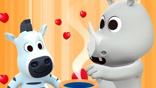 Dining At The Zoo | Song For Children | Cartoon Videos For Kids