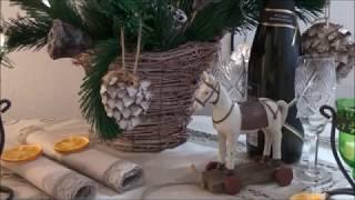 Сушу апельсин. Шишки на подмогу. Упаковка из Fix Price порадовала. Кусочек новогоднего стола.