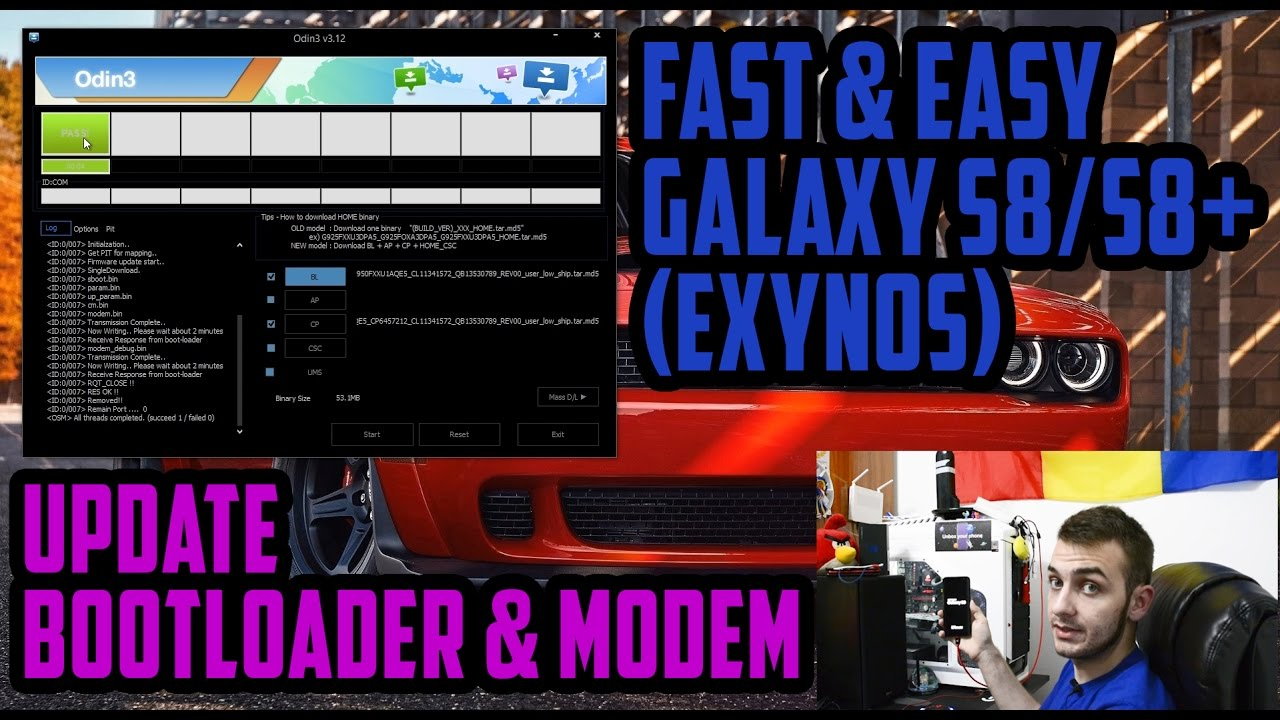 How To Update The Bootloader & Modem On Your Samsung Galaxy S8/S8+ (EXYNOS)