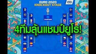 ประกบคู่รอบ 4 ทีมสุดท้าย ยูโร 2020