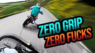 Riding supermoto with old tires? - BAD IDEA