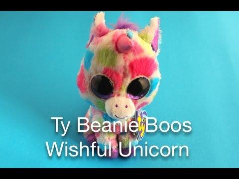b7929c97071 Ty Beanie Boos Wishful Unicorn - YouTube