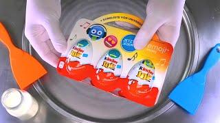 Ice Cream Rolls | kinder JOY Surprise Eggs Chocolate Ice Cream with opening Toys for Kids | ASMR