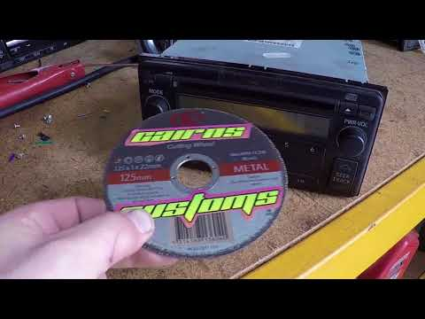 Heavy Metal CD... ( metal grinder disc into CD player)