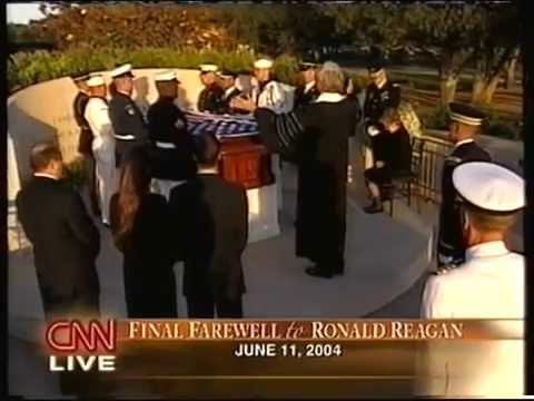 Private funeral of Ronald Reagan CNN live coverage 6-11-2004